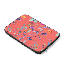 Butterfly Swarm Coral Laptop Sleeve