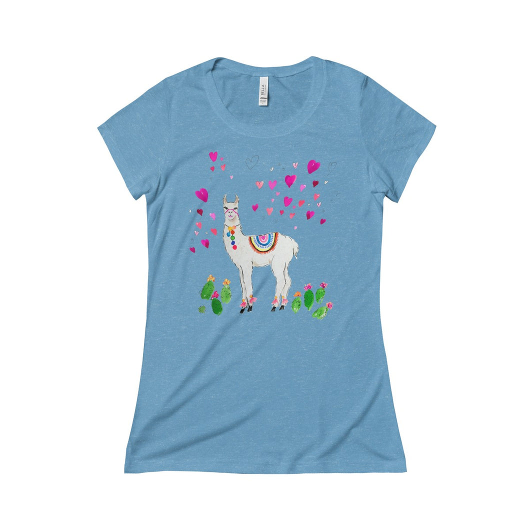 All Love Llama Bella + Canvas Triblend Short Sleeve Tee
