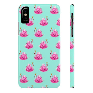 Crowned Swan Aqua Case Mate Slim Phone Case