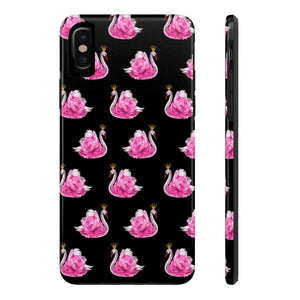 Crowned Swan Black Case Mate TOUGH Phone Case