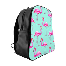 Aqua Flamingo School Backpack