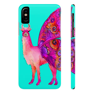 Butterfly Llama Aqua Case Mate Slim Phone Case