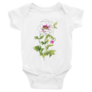 White Anemone Infant Bodysuit