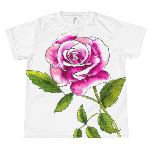 Pink Rose Youth Sublimation T-Shirt