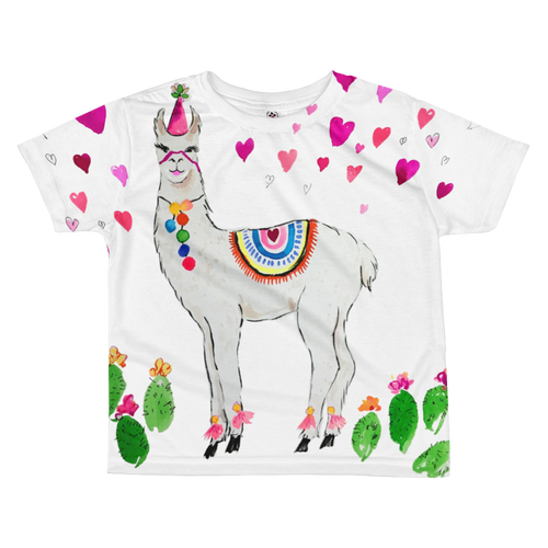 All Love Llama All-Over Kids Sublimation T-Shirt