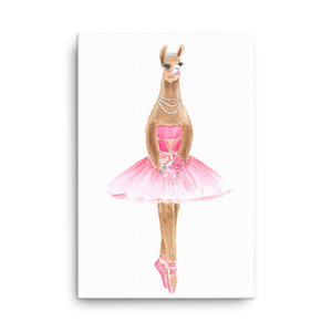 Balletllama Pink Canvas