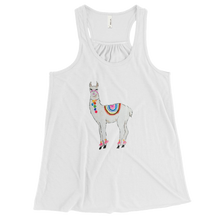 All Love Llama Bella + Canvas Women's Flowy Racerback Tank