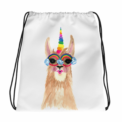Llamacorn Drawstring Bag