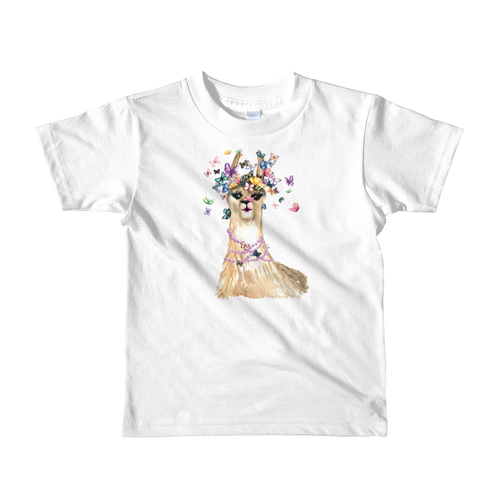 Flutterllama Full Short Sleeve Kids T-Shirt