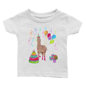 Happy Birthday Llama Infant Tee