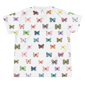 Butterfly Pattern Youth Sublimation T-Shirt