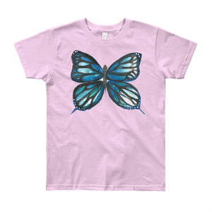 Blue Butterfly Youth Short Sleeve T-Shirt