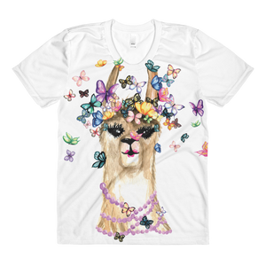 Flutterllama Sublimation Women's Crew Neck T-Shirt