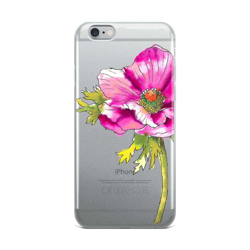 Hot pink anemone flower iphone case llama luv co hot pink anemone flower iphone case mightylinksfo