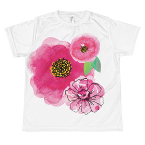Pink Flower Cluster Youth Sublimation T-Shirt