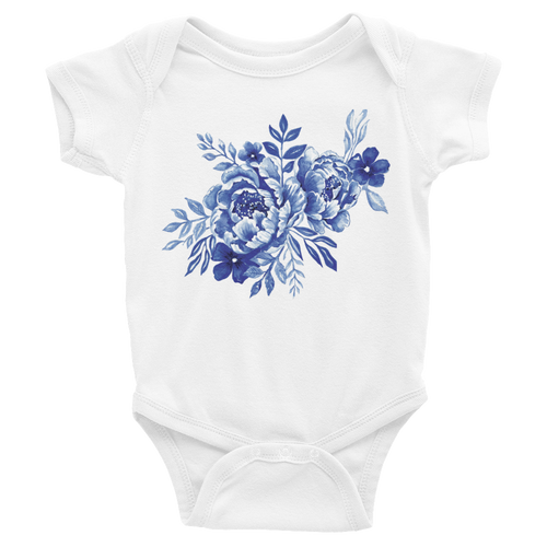 Blue Flowers Infant Bodysuit