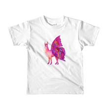 Butterfly Llama Short Sleeve Kids T-Shirt