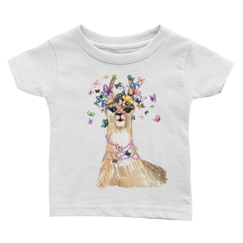 Flutterllama Full Infant Tee