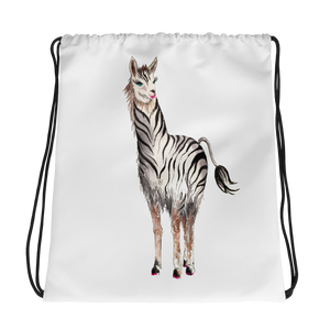 Zebrallama Drawstring Bag