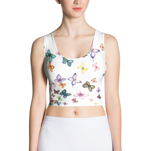 Butterfly Swarm Women's Sublimation Cut & Sew Crop Top