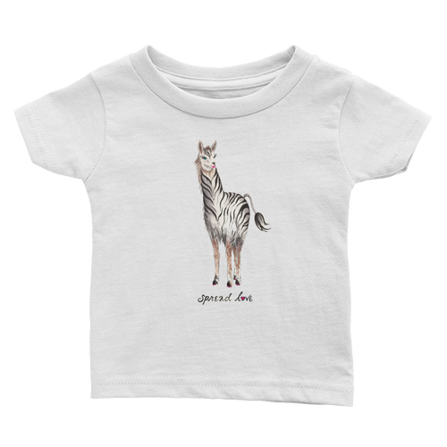 Zebrallama Spread Love Infant Tee