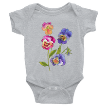 Colorful Pansies Infant Bodysuit