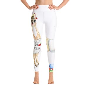 Teacher Llama Yoga Leggings