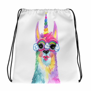 Rainbow Llamacorn Drawstring Bag