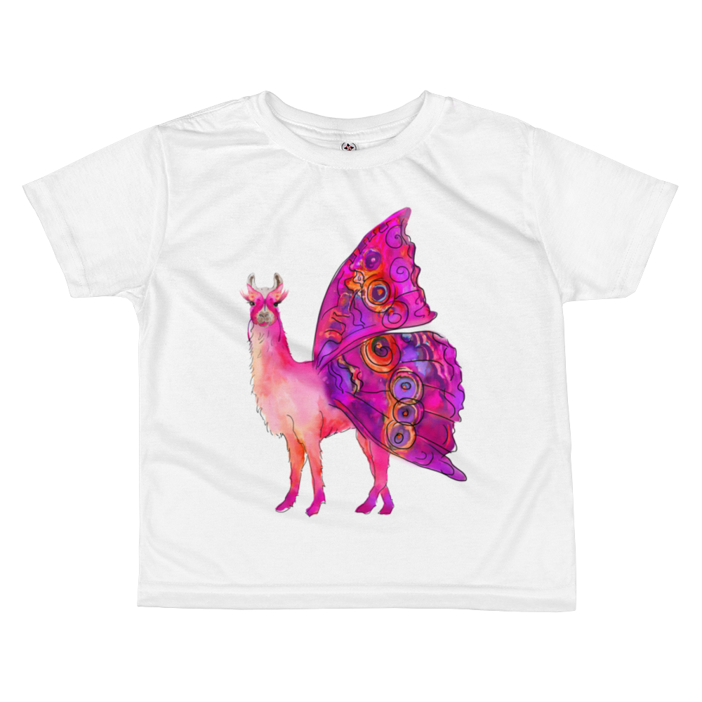 Butterfly Llama Kids Sublimation T-Shirt