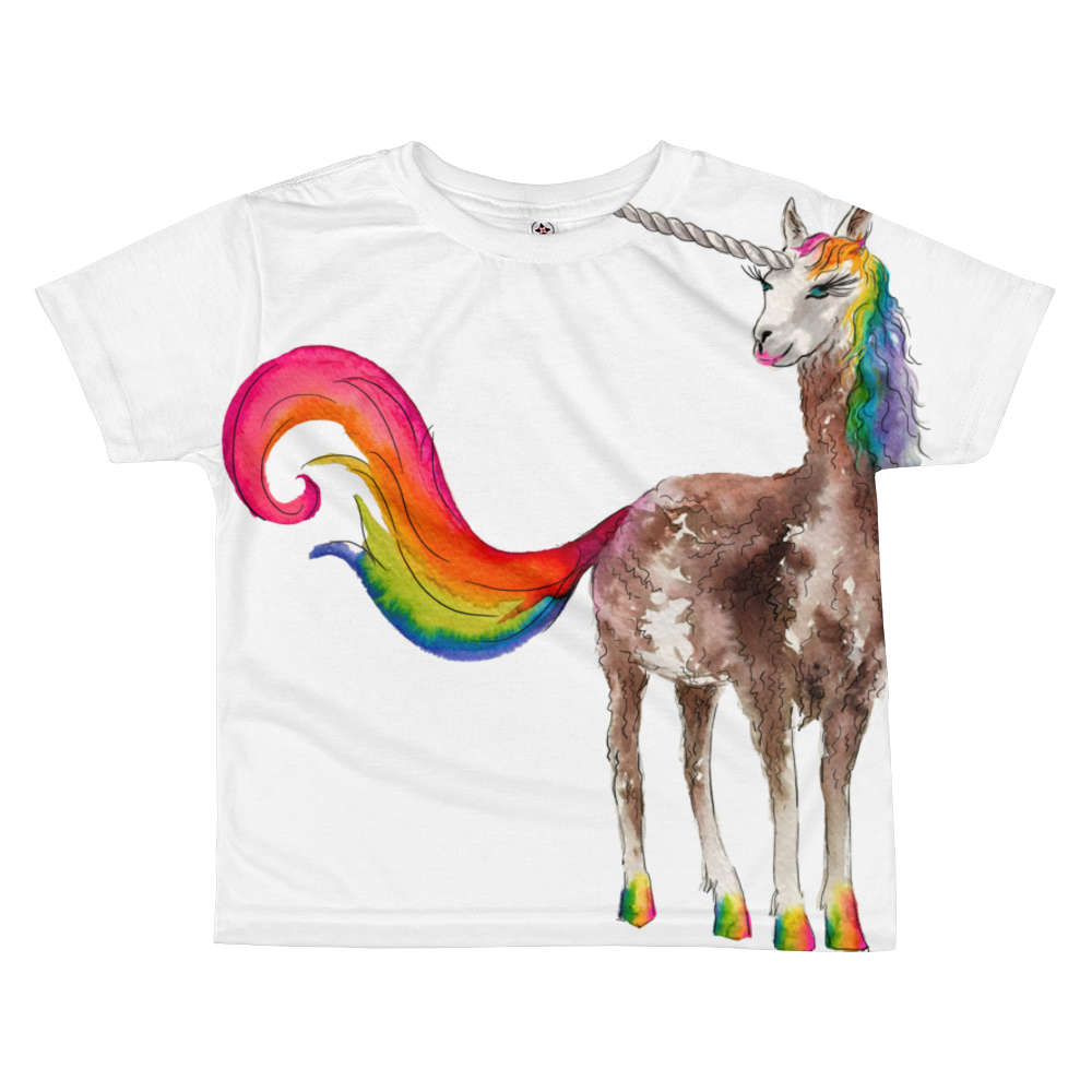 Mystical Llamacorn Kids Sublimation T-Shirt