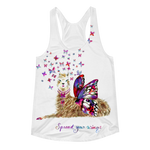 Spread Your Wings Llama Women's Racerback Tank