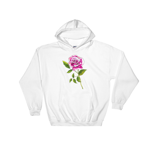 Pink Rose Hooded Sweatshirt