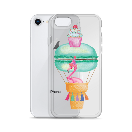 Fran The Flamingo In A Hot Air Macaron iPhone Case