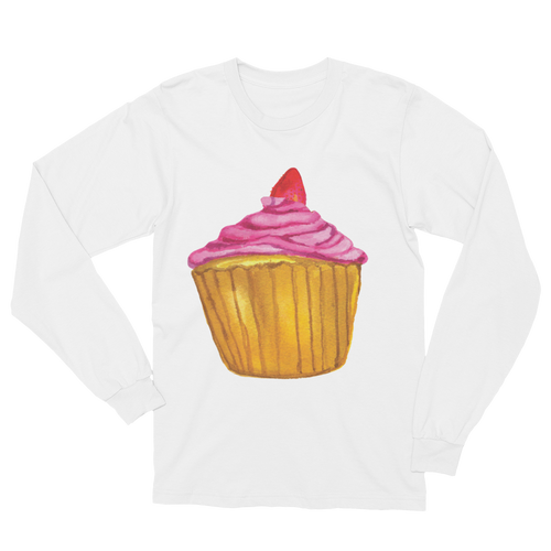 Whimsy Cupcake Long Sleeve T-Shirt Unisex