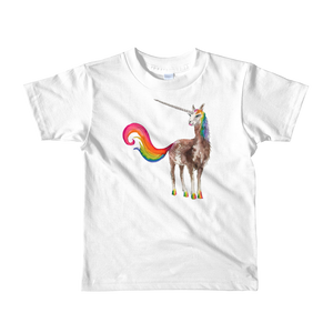 Mystical Llamacorn Short Sleeve Kids T-Shirt