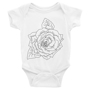 Black Garden Rose Infant Bodysuit