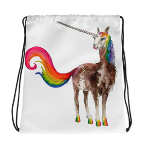 Mystical Llamacorn Drawstring Bag
