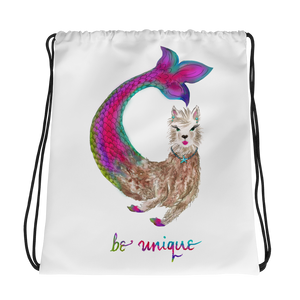 Merllama Be Unique Drawstring Bag