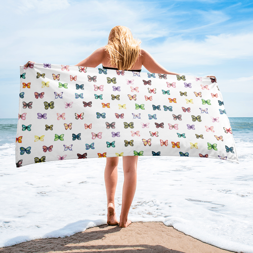 Butterfly Pattern Towel