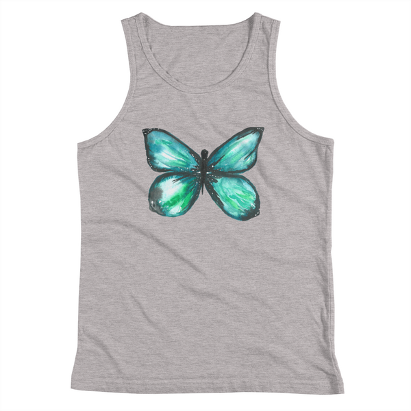 Green Butterfly Youth Tank Top