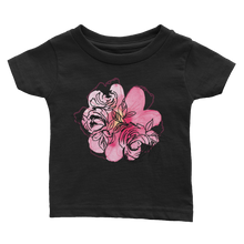 Black & Pink Flower Cluster Infant Tee