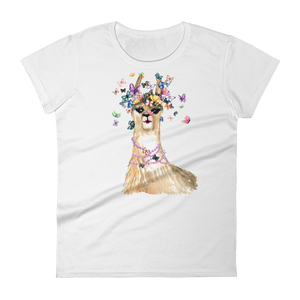 Flutterllama Full Women's Short Sleeve T-Shirt