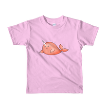 Orange Narwhal Short Sleeve Kids T-Shirt