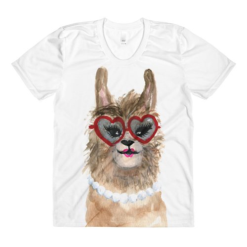 Grandllama Sublimation Women's Crew Neck T-Shirt