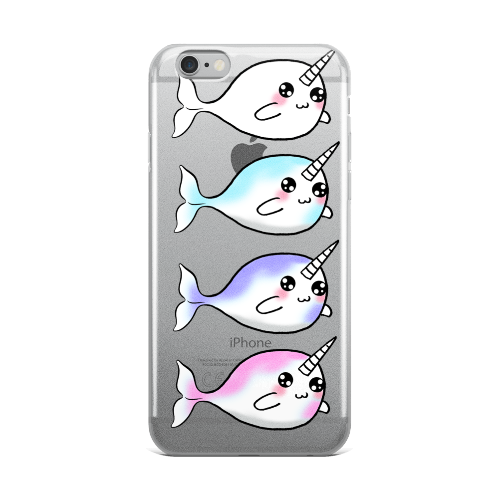 Derpy Narwhal Quad iPhone Case