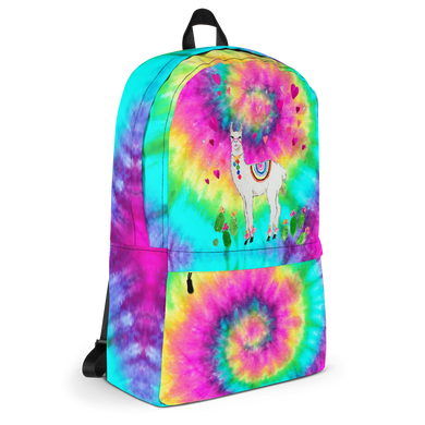 Tye Dye All Love Llama School Backpack