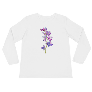 Purple Orchids Ladies Long Sleeve T-Shirt