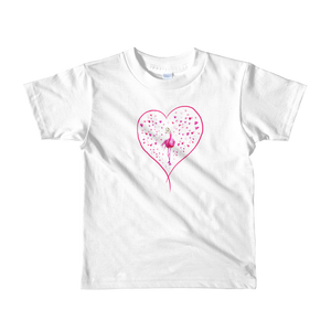 Llama-mingo Hearts American Apparel Short Sleeve Kids T-Shirt