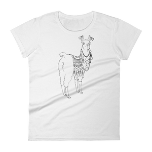 Bollyllama Outline Women's Short Sleeve T-Shirt