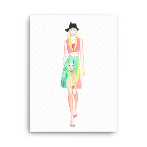 Fashion Llama Canvas